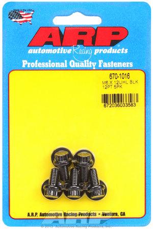 ARP M6 x 1.00 x 12  12pt black oxide bolts 6701016