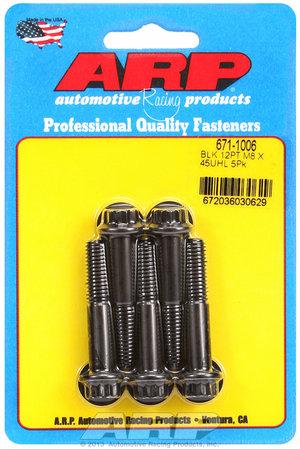 ARP M8 x 1.25 x 45 12pt black oxide bolts 6711006
